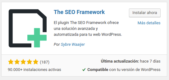 The SEO Framework plugin