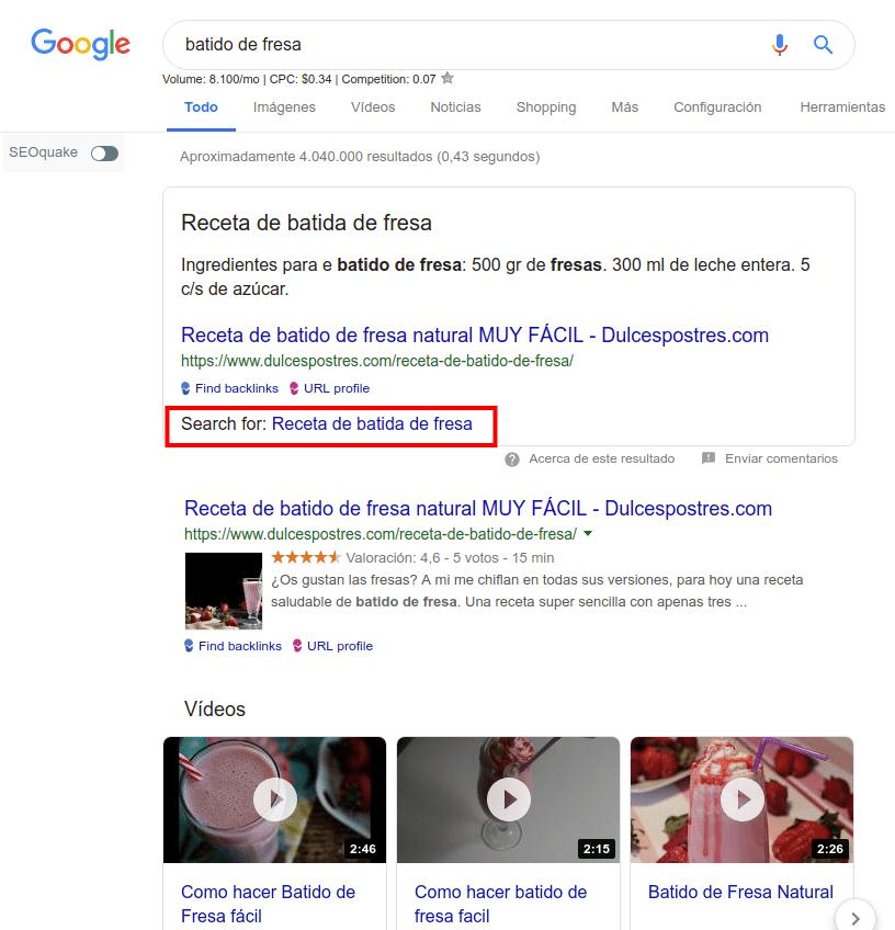Intenciones de búsqueda en Google